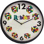 (Set) Rubik's Cube Quartz 12 Inch Wall Clock w/ Acrylic Frame & Batteries (2)