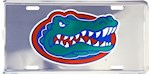 Florida Gators NCAA Silver Mirror License Plate (1 Unit)