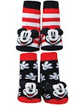 Disney Mickey Mouse Rattle Socks Set - Cotton Blend - One Size Fits Infants (2)