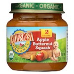 Earth's Best Organic Apple Butternut Squash Baby Food - Stage 2 - Pack of 12 - 4 oz. (12)