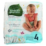 Seventh Generation Free and Clear Baby Diapers - Stage 4 - Pack of 4 - 27 Count (4)