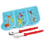 Me Time Musical Meal Set - For Kids To Express Themselves - Plate & Utensils (1)