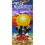 Disney Sunset Mickey And Minnie Mouse Beach Towel - Absorbent Cotton (1)