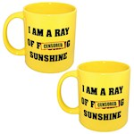 (Set/2) Giant Ray Of Sunshine Ceramic Mug - Dishwasher & Microwave Safe 22oz (2)