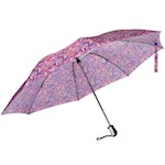 """Automatic Travel Umbrella Paisley - Protective Canopy Opens To 48"""" Diameter (1)"""