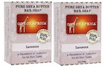 Out of Africa Pure Shea Butter Bar Soap Lavender 2 Bar Pack (1 Unit)