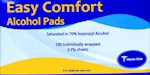 Easy Comfort Alcohol Pads - 100 Pads (1 Box)