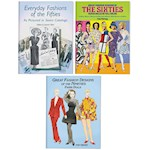 (Set/3) Decades Of Fashion Designs Paper Dolls Books - 1950s, 1960s, & 1990s (1)
