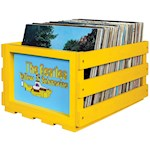 Beatles Yellow Submarine Record Crate Rustic Solid Wood Holds 40 -75 Albums (1)
