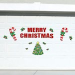Festive Holiday Merry Christmas Garage Door Decoration 25 Piece Magnets Set (1)