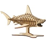 Incredibuilds Build Your Own 3D Great White Shark - 46 Pieces No Glue Needed (1)