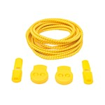 Stretch Elastic Shoelaces with Locking Clips, Yellow 100 cm by More of Me to Love (1 Pair)