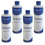 (Set/4) No Rinse Shampoo 16oz Bottles - Waterless Wash - Travel & Caregiver (4)