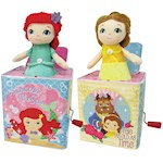 (Set) Disney Princess Little Mermaid Ariel & Belle Beauty Jack In The Boxes (2)