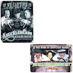 (Set) The Three Stooges Incompetent & Knuckleheads Aluminum Signs - USA Made (2)