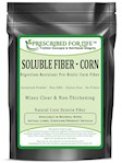 Fiber (Corn) - Soluble Non-GMO Digestion-Resistant Pre-Biotic Corn Fiber - Natural Instatized Powder, 12 oz (12 oz)