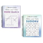 (Set) Brain Games Word Search And Sudoku Puzzle Books - Softcover, 192 Pages (2)