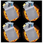 """(Set/4) Fire Resistant Document Bags Protect Up To 1000 Degrees F 15"""" X 11"""" (4)"""