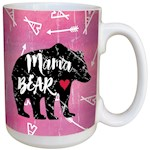 Mama Bear Mug Attactive Motherhood 15 Ounce Ceramic Coffee Hot Cocoa Tea Cup (1)