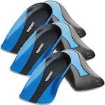 Plantar Fasciitis Shock Absorbing Heel Gel Cup Insoles (Set of Three) Mens (3)