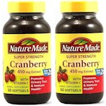 Nature Made Cranberry With Vitamin C 450mg Extract 120 Softgels 2 Bottle Pack (1 Unit)