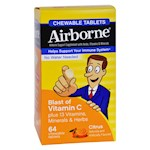 Airborne - Chewable Tablets with Vitamin C - Citrus - 64 Tablets (1)