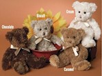 Douglas Chocolate Fuzzy Teddy (1 each)