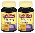 Nature Made Multi For Her Tablets With Iron & Calcium 2 Bottle Pack (1 Unit)