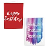 (Set) Birthday With Confetti And Thank You With Glitter Musical Prank Card (2)