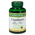 Nature's Bounty Cranberry Plus Vitamin C 4200mg 250 Softgels Bottle (1 Unit)