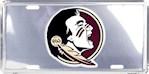 Florida State Seminoles NCAA Silver Mirror License Plate (1 Unit)
