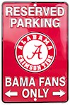 "Alabma Crimson Tide NCAA ""Bama Fans Only"" Reserved Parking Sign (1 Unit)"