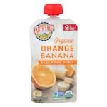 Earth's Best Organic Orange Banana Baby Food Puree - Stage 2 - Pack of 12 - 4 oz. (12)