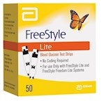 FreeStyle Lite Blood Glucose Test Strips (Box of 50)