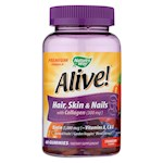 Nature's Way - Alive! Hair, Skin and Nails Gummies with Collagen - 60 Gummies (1)