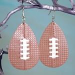 Football Earrings Handmade Hypoallergenic Surgical Stainless Steel Ear Hooks (1)