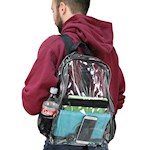 Clear Vinyl Backpack w/ Adjustable Straps - School Sports Events Theme Park (1)