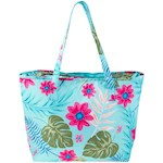 "Tropical Cooler Tote - Bright Colors - Insulated w/ Shoulder Strap 22"" x 15"" (1)"