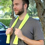 "(Set/2) Hi Vis Numbskull Ice Towel Continuously Cools As It Dries 39"" X 12"" (1)"