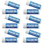 (Set/12) Natural Headache Relief Peppermint Sticks with Menthol Crystals (12)