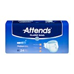 """Attends Classic Adult Brief, Tab Closure, Medium(32""""-44""""), Heavy Absorbency (Case of 96)"""