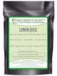 Lemon Juice Powder - Natural Spray Dried & Unsweetened Non-GMO Lemon Juice - Reconstitute Ratio 1:2, 12 oz (12 oz)