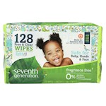 Seventh Generation Baby Wipes - Free and Clear Refill - 128 ct - Pack of 6 (6)