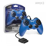 PS2 Wired Game Controller (Blue) - Armor3 (1 Unit)