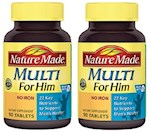 Nature Made Multi For Him Tablets 2 Bottle Pack (1 Unit)