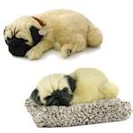 (Set) Perfect Petzzz Breathing Pug Dog & Mini Pug - Plush Synthetic Puppies (2)