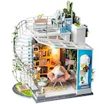 Dora's Loft Miniature Room Kit - Includes Instructions, Fabric & Many Tools (1)