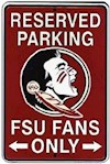 Florida State Seminoles NCAA Fans Only Reserved Parking Sign (1 Unit)