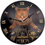 "(Set) Lisa Parker Cat Wall Clock - 12"" Diameter Ready To Mount w/ Batteries (2)"