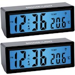 (Set/2) Talking Clock w/ Volume Control - Tells Time And Temp - Easy To Read (2)